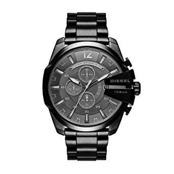 2a4d810a2d ディーゼル DIESEL メガチーフ メンズ クオーツ クロノ 腕時計 DZ4355 ブラック [並行輸入品]