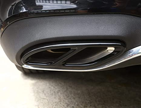 304 Stainless Steel Pipe Tail Throat Exhaust Black Outputs Tail Frame Trim Cover for Mercedes benz
