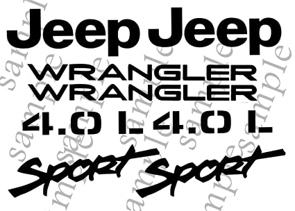 Amazon Com 1997 2002 Jeep Wrangler Sport 4 0l Replacement Fender