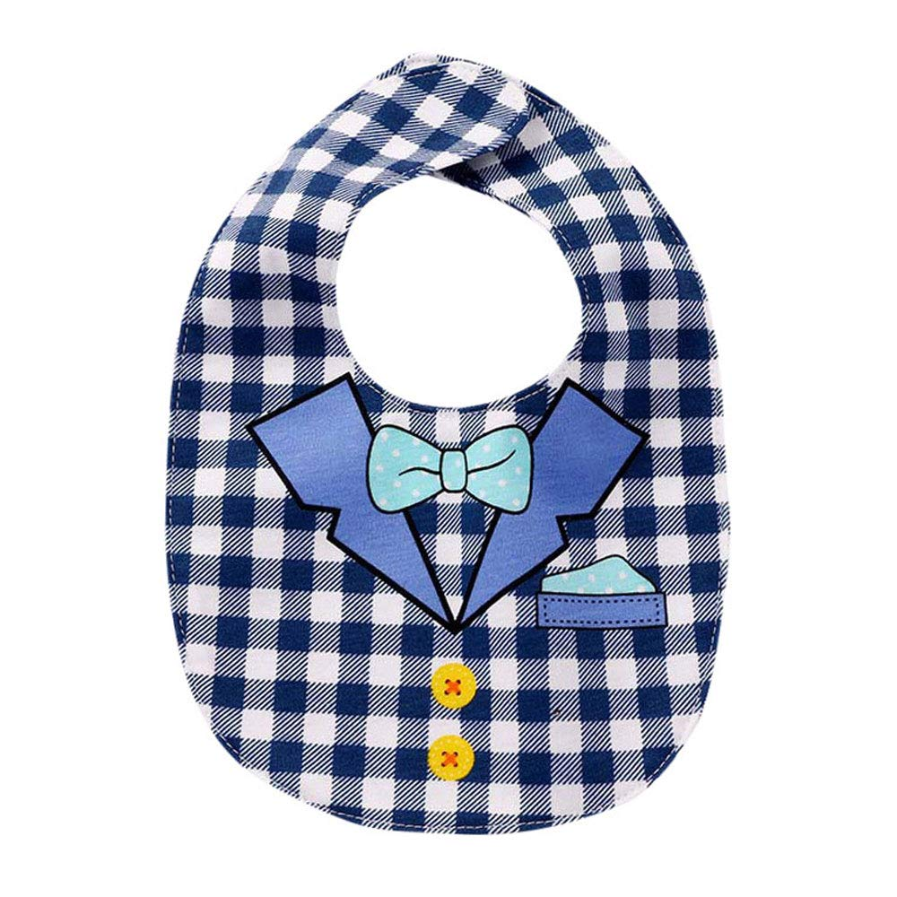 LIKESIDE Baby Kids Saliva Bibs Toddler Boys And Girls Cartoon Print Pinafore