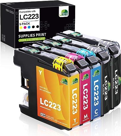 JARBO Compatible Brother LC223 XL Cartuchos de tinta Gran ...
