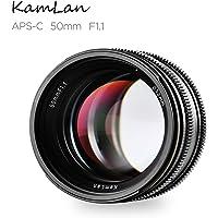 kamlan f1.1aps-c–lente di messa a Fuoco Fisso manuale (Grande apertura, 50mm)