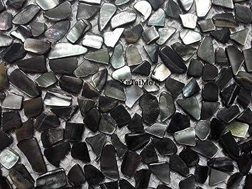 11 Unregelmäßige Schwarz Lippe Muschel Mosaik Fliesen ...