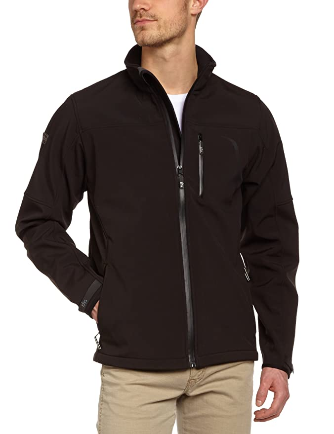 TBS Technisynthese Men s Zip-Up SoftShell Jacket black black Size FR   38  (Taille Fabricant   S)  Amazon.co.uk  Sports   Outdoors d4c017ec35