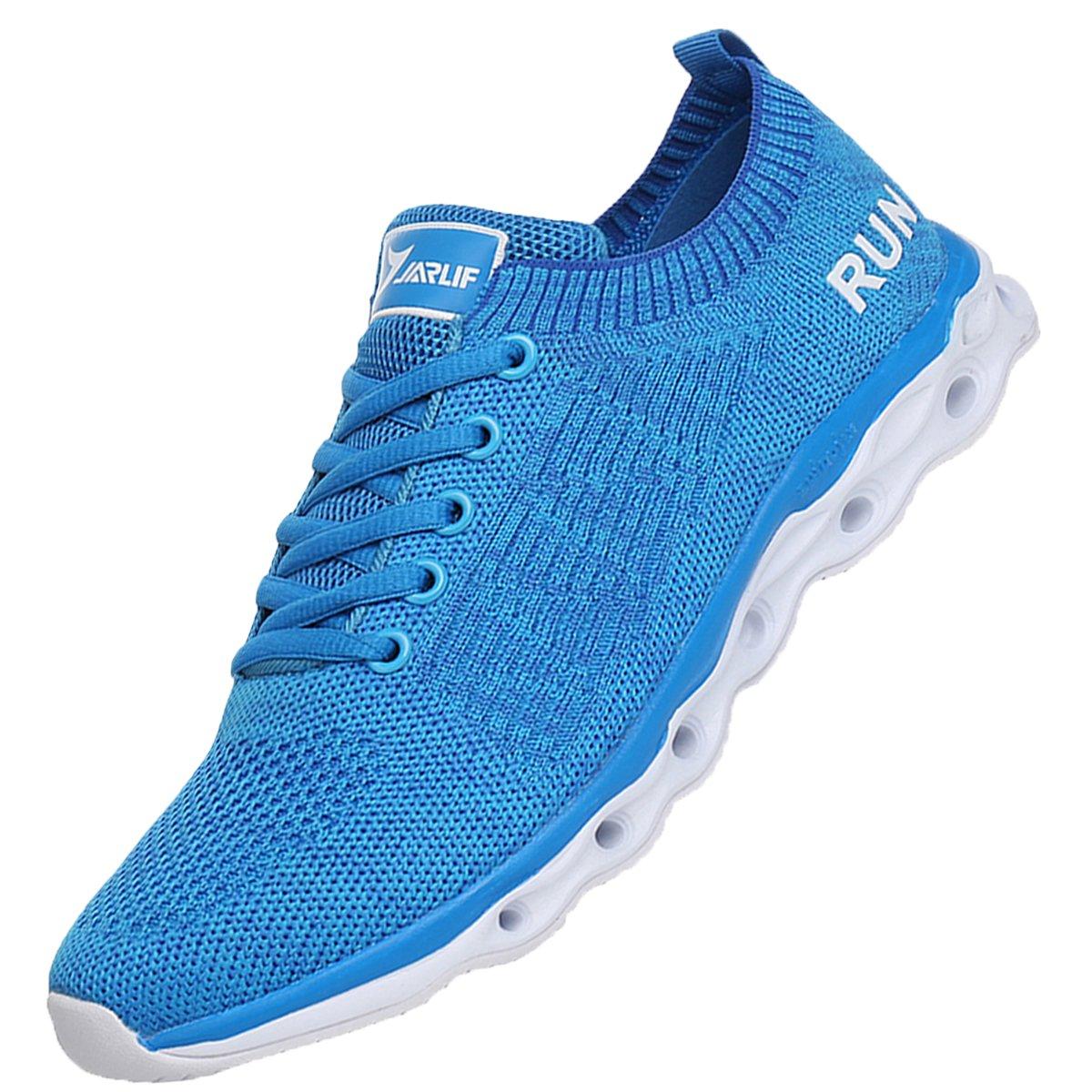 JARLIF Women's Lightweight Fashion Walking Sneakers Athletic Tennis Running Shoes (8.5 B(M), Blue)