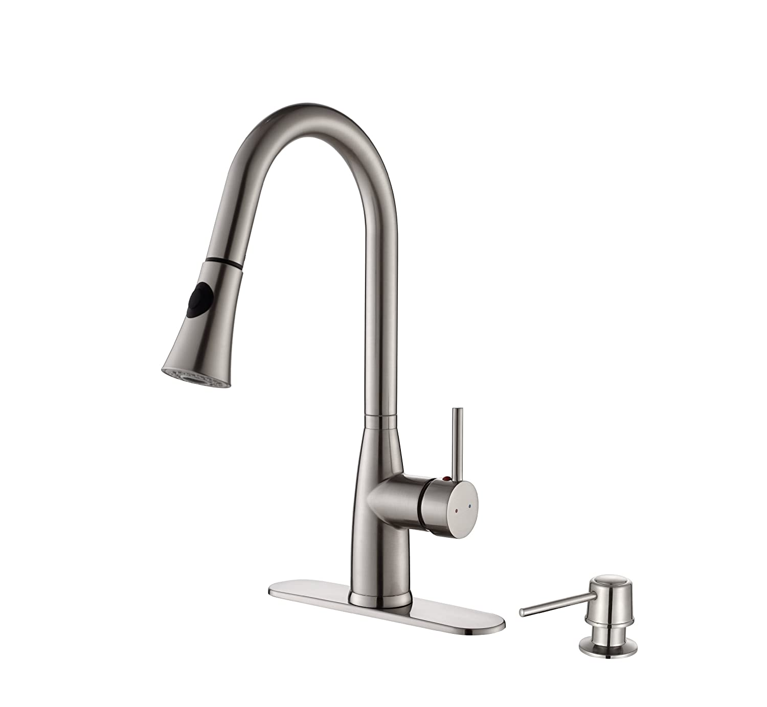 pull bathroom solid stainless on all best metal kitchen faucets down steel