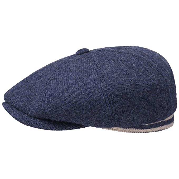 a4d3edd0 Stetson Hatteras Wool Stripe Flat Cap Men | caps Ivy hat Winter with Peak,  Lining