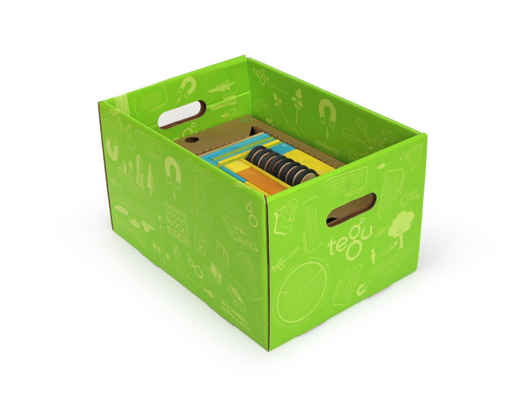 90 Piece Tegu Classroom Magnetic Wooden Block Set, Tints by Tegu (Image #2)