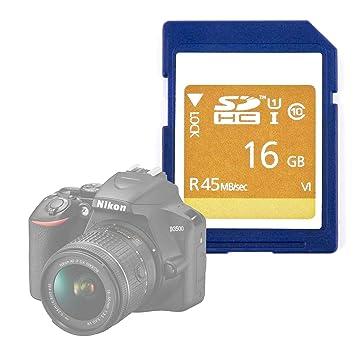 DURAGADGET Tarjeta de Memoria SD HC UHS-I 16 GB para Cámara ...