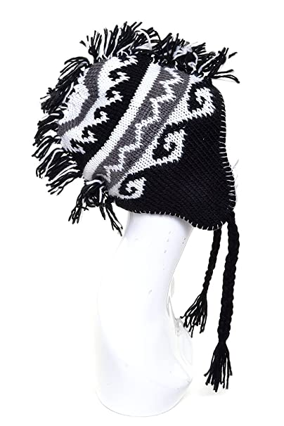 Amazon Ll Mohawk Hat Knit For Boys Girls Black Tribal Pattern