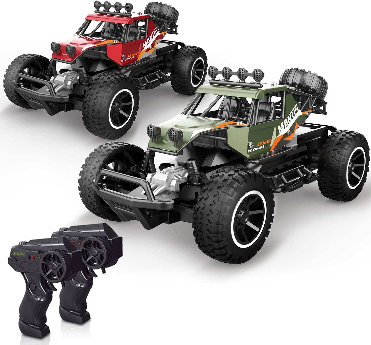 Amazon Com X Toyz Rc Cars Remote Control Cars 2 Pcs Off Road Monster Trucks For Kids 1 20 Scale Metal Shell Alloy Rc Car High Speed Racing Car 2 4ghz Hobby Vehicles Toys Gifts