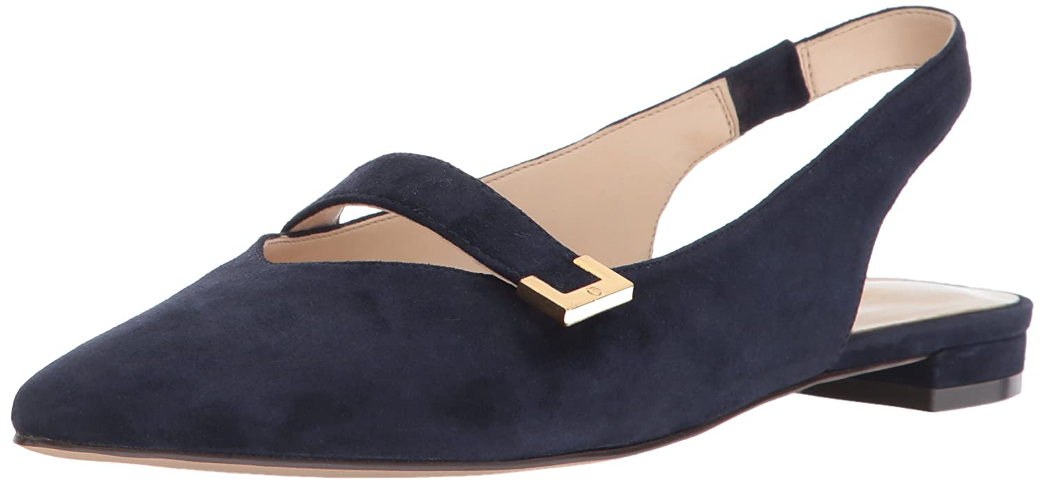 Nine West Women's Antonio Ballet Flat B01N00340W 10 B(M) US|Navy Suede
