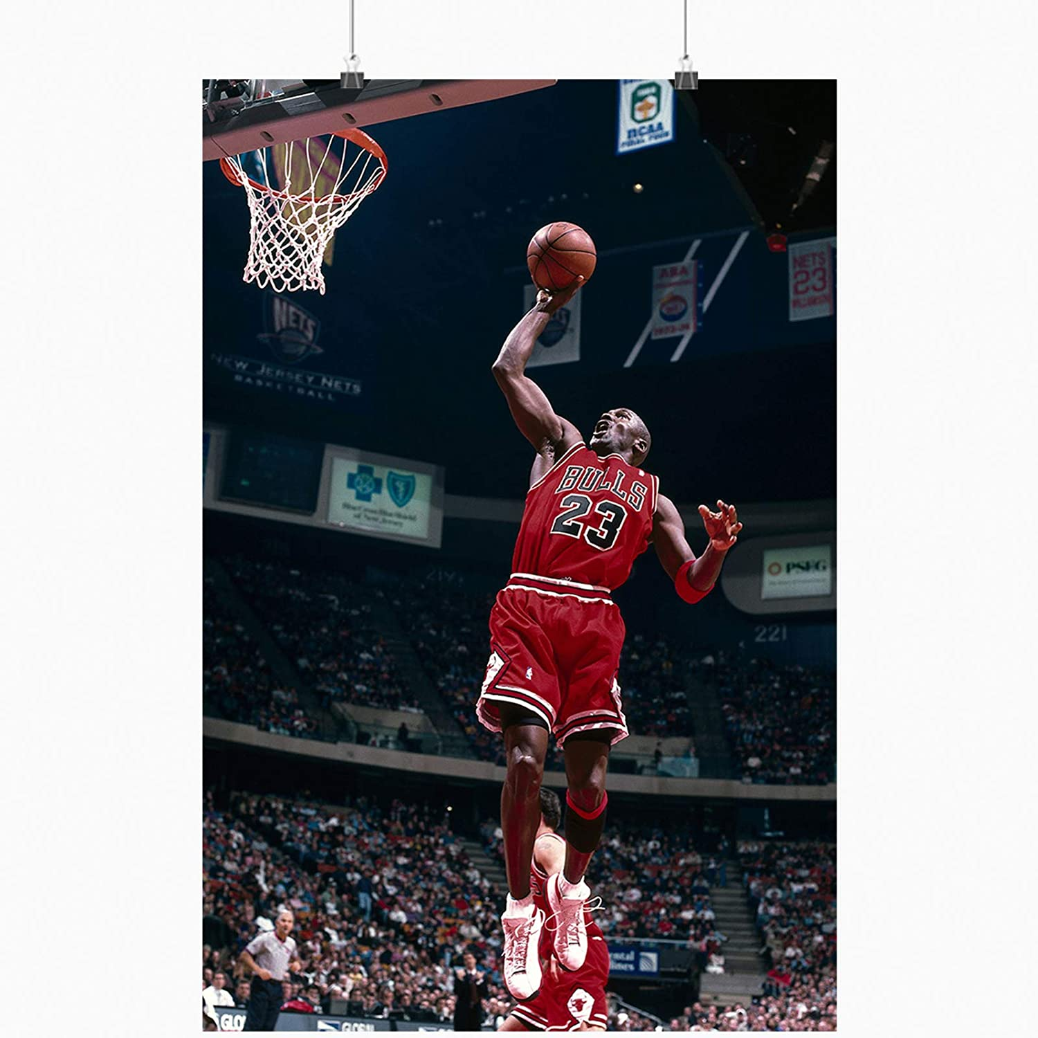 Michael Jordan Bulles Posters 18 x 24 inches Basketball Star Inspirational Posters for Rooms Offices Dorms Homes Wall Decor Posters Unframed