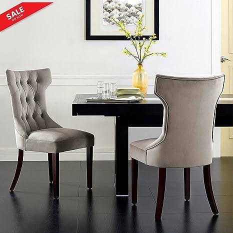 Amazon.com: Tela respaldo alto silla decorativa patrón de ...