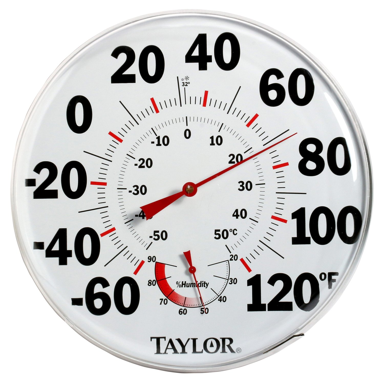 Taylor 497 12'' Outdoor Thermometer Temperature/Humidity Gauge