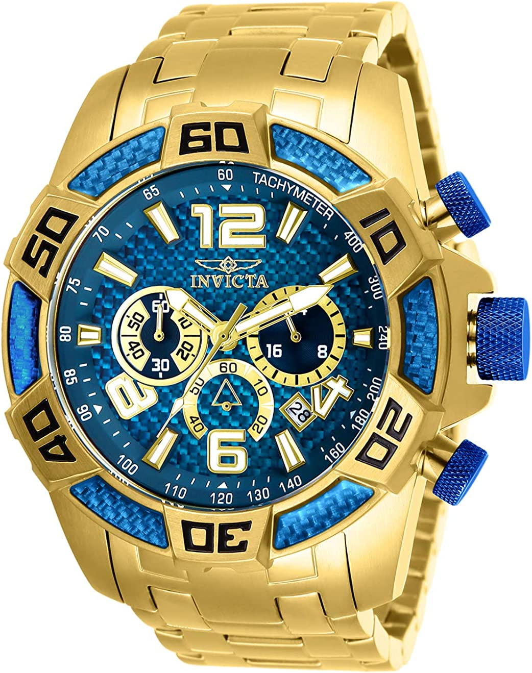 Invicta Men s Pro Diver Quartz Diving Watch with Stainless-Steel Strap, Gold, 26 Model 25852