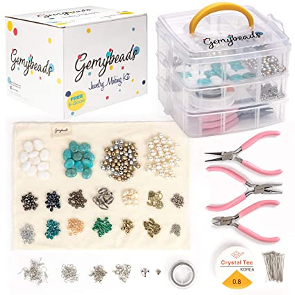Deluxe Huge Adults Jewellery Making Kit with Beads Pliers Findings & much more Jewellery Making Kits