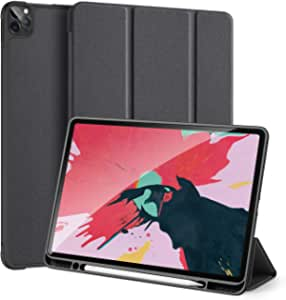 Smart Case Cover for iPad Pro 12.9 2020 Support Apple Pencil Charging Lightweight Stand Cover with Auto Sleep/Wake for Apple iPad Pro 12.9 Inch 2020 Release (black)