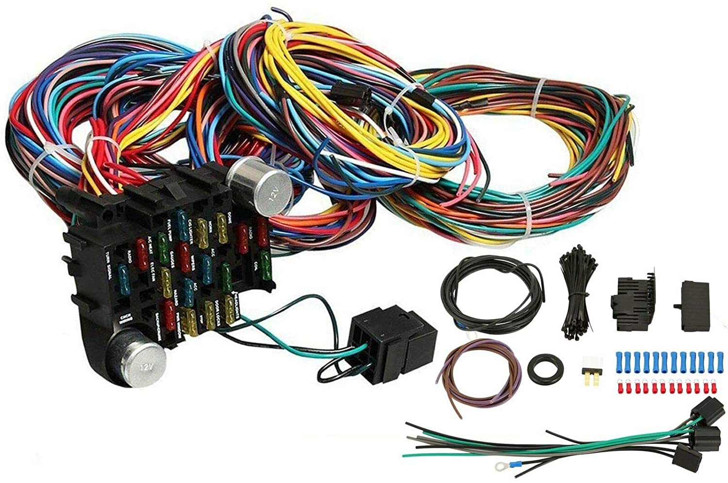 amazon.com: vowagh universal extra long wires 21 circuit wiring ...  amazon.com