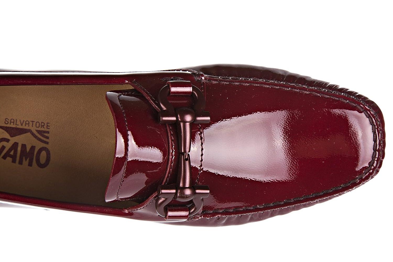 Salvatore Ferragamo Mocasines en Piel Mujer Nuevo Parigi Bordeaux EU 38 034453 646604: Amazon.es: Zapatos y complementos