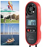 Teepao 4PCS Mini Digital Anemometer Handheld