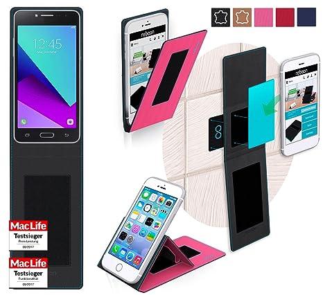 reboon Hülle für Samsung Galaxy J2 Prime Tasche Cover Case Bumper   Pink   Testsieger