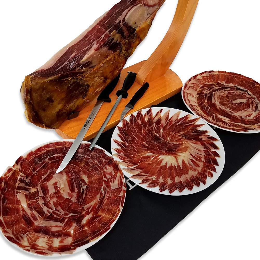 Iberico Ham Pata Negra, 100 % cortada por 2 años, 20-25 ...