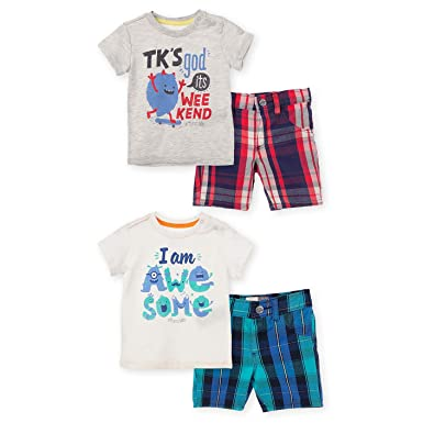 OFFCORSS Matching Brother Siblings Shorts T-Shirt Outfits For Baby Boys Infant Newborn Set Kit