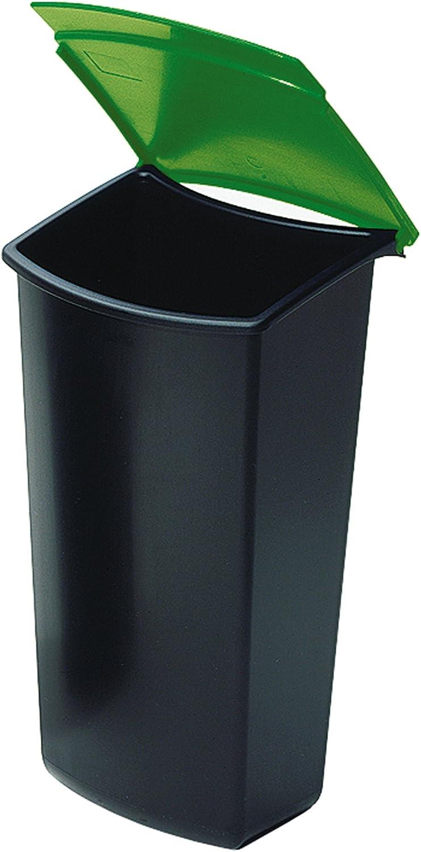 HAN Abfalleinsatz MOON 6 Liter ohne Deckel schwarz Büromülleimer Abfalleimer