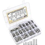 Self Tapping Screws Assortment Fasteners Set, 650pcs 304 Stainless Steel M3/M4/M5/M6 Sheet Metal Screws Kit with Storage Box,