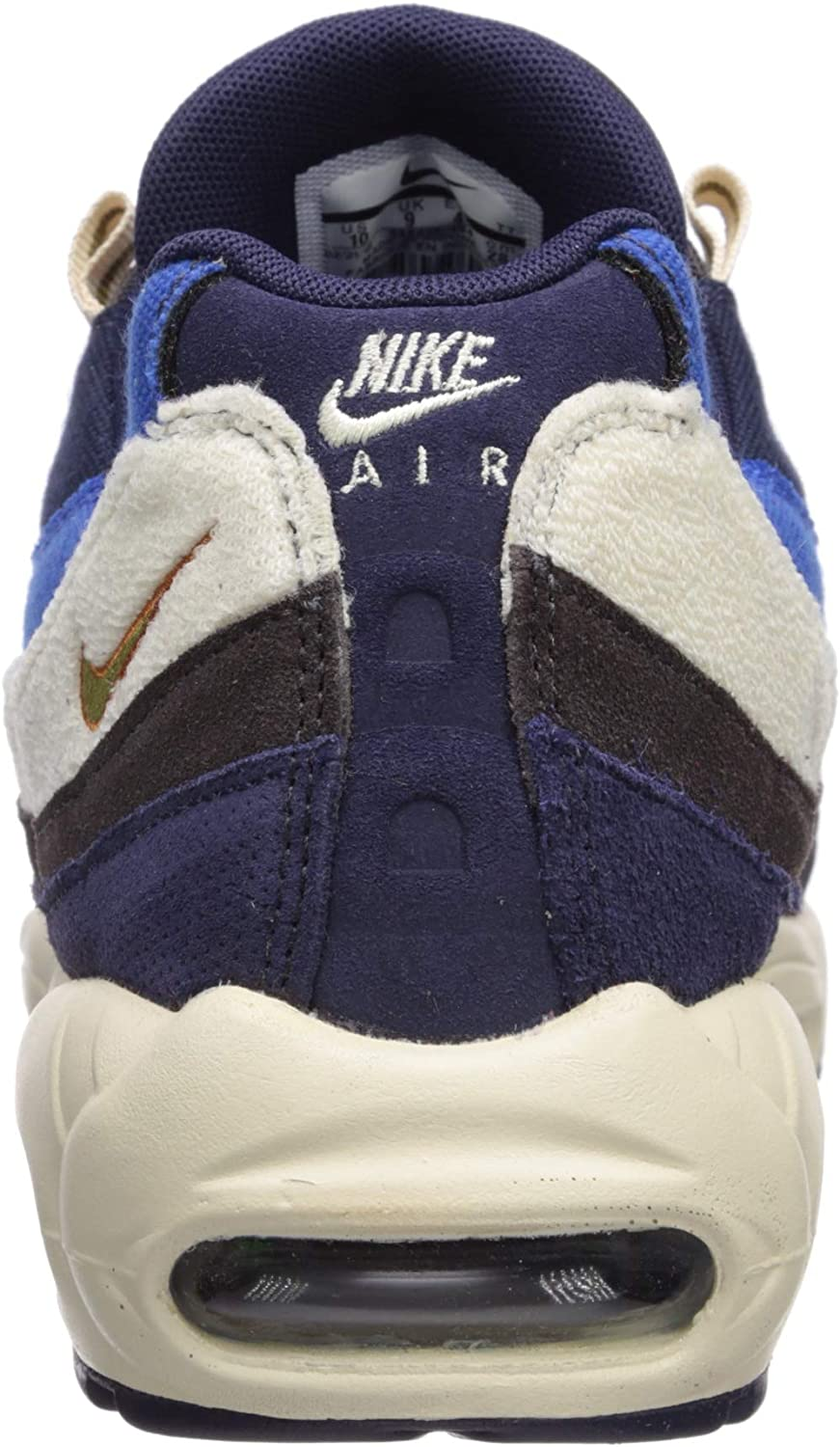 Nike Air Max 95 PRM, Chaussures de Running Compétition Homme Multicolore Blackened Blue Camper Green Monarch 404