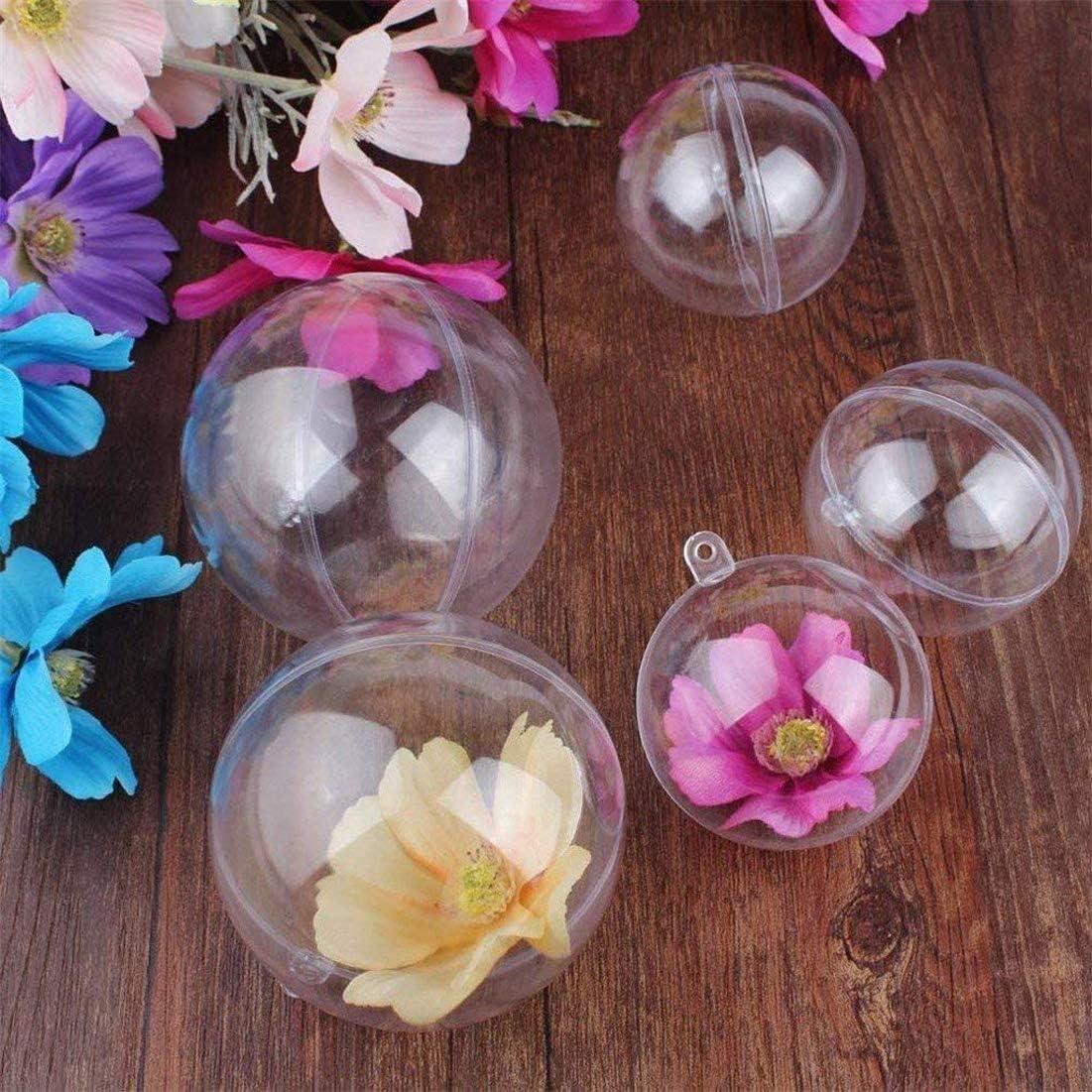Yeelan Plastique Transparent Acrylique Remplissable Boule Transparente Boule Ornement Boule Sph/ère pour La F/ête De Mariage No/ël D/écor /À La Maison 60mm,Ensemble de 24 Pcs