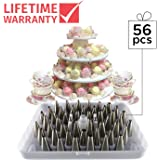 KitchenPRO Stainless Steel Cake Master Decorating Tip Set, 56pc, with Hinged Storage Box