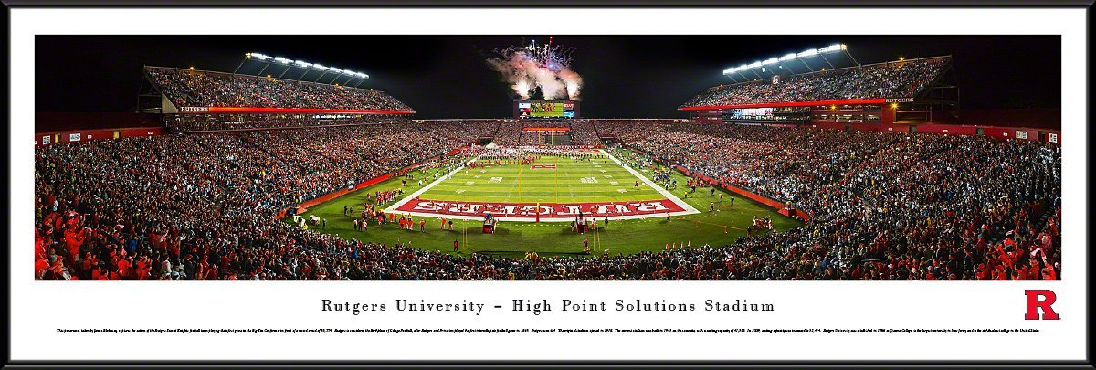 Rutgers Football - Blakeway Panoramas College Sports Posters with Standard Frame by Blakeway Worldwide Panoramas, Inc.