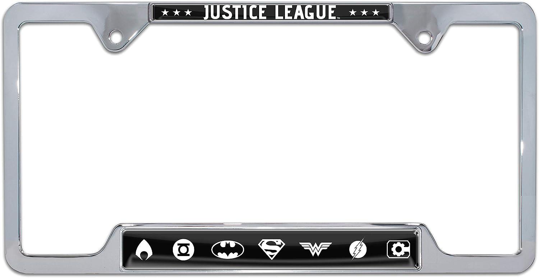 Elektroplate Justice League Metal License Plate Frame Open Version
