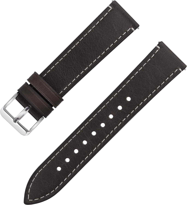Fullmosa Uhrenarmband Leder Mit Schnellverschluss Wax Oil Serie In 14 16 18 20 22 24mm Sport Freizeit