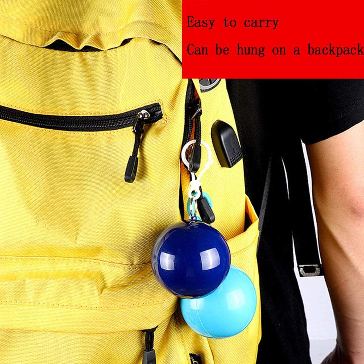 Crazestar Portable Plastic Convenient Emergency Raincoat Ball Disposable Raincoat 6 Colors-6 PCS