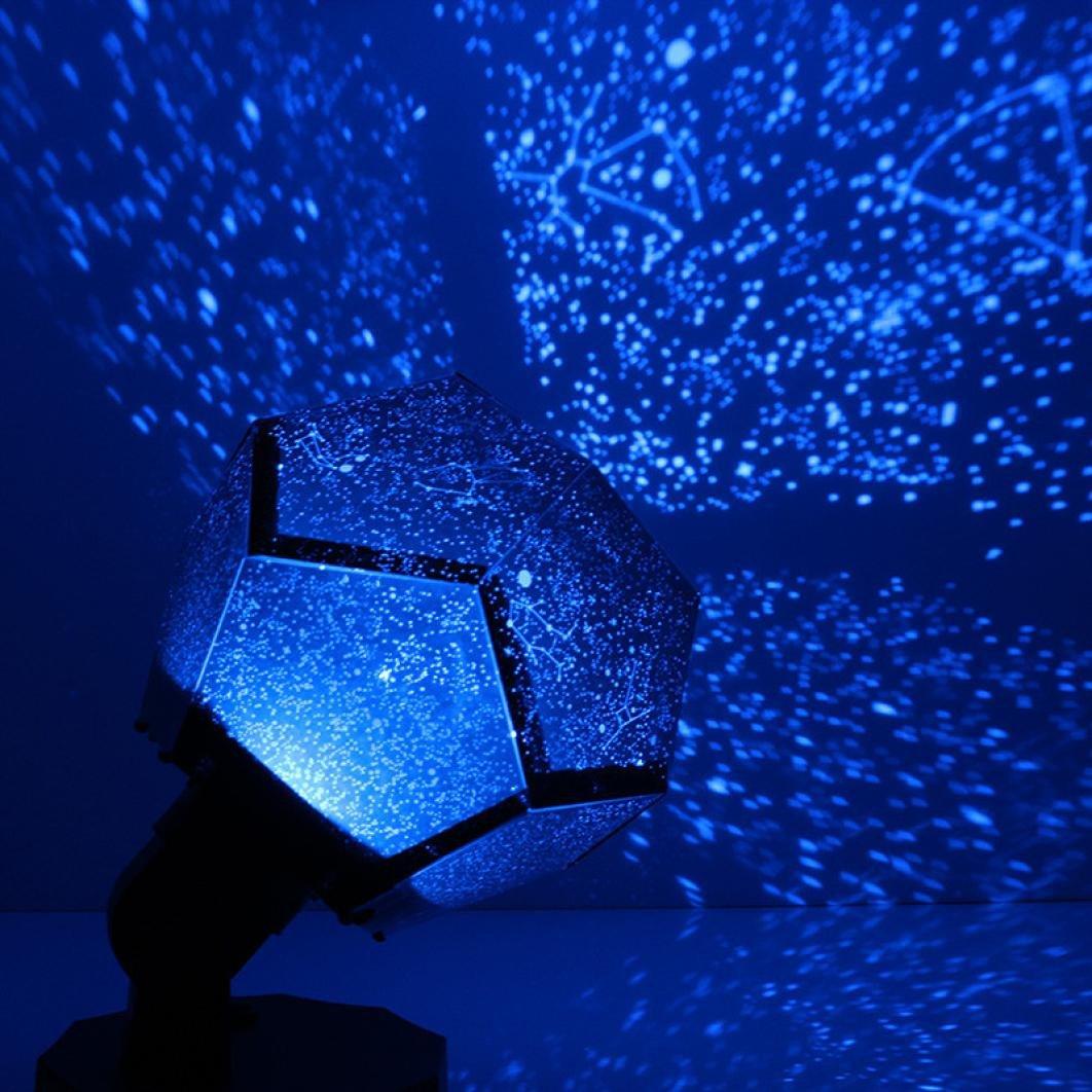 Celestial Star Kosmos Nacht Lampe Nachtlichter Projektion Projektor Sternenhimmel Huhua (Black) Huhua-Night Light