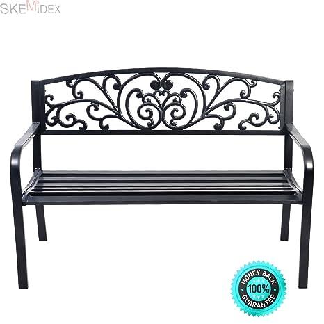 Strange Amazon Com Skemidex 50 Patio Park Garden Bench Porch Alphanode Cool Chair Designs And Ideas Alphanodeonline
