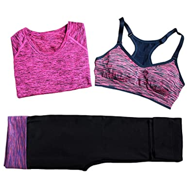 2bac44318f1f1 iPretty Women s Push Up Sports Bra Firm Support for Yoga Running Fitness  Outdoor Sports Workout with