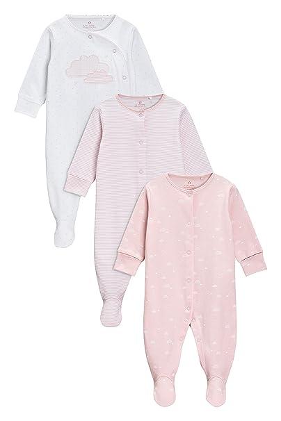 next Bebé-Niñas Pack De Tres Pijamas Tipo Pelele con Estampado A Nubes (0 Meses - 2 Años) Rosa 1.5-2 años: Amazon.es: Ropa y accesorios