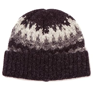 7ac8a65031468 Norse Projects Fairisle Beanie - Charcoal Melange-One Size  Amazon.co.uk   Clothing