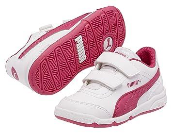 PUMA Stepfleex FS SL V - Zapatillas para niño, color blanco/rosa, talla 25: Amazon.es: Deportes y aire libre