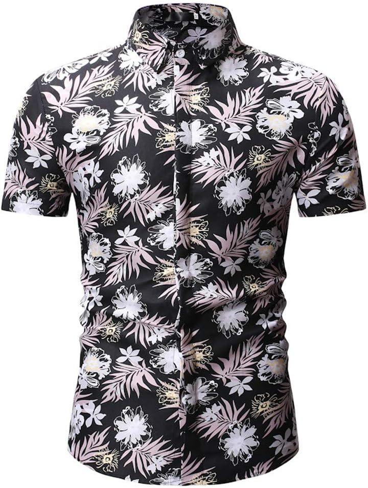 Xlala Hawaii Style - Camisa para Hombre (Manga Corta, Cuello de ...