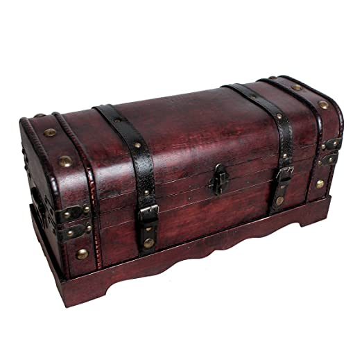 Treasure Chest HMF 6403/ Cambodia Pirates Treasure Chest with Lock Wood Box 40/ x 23/ x 27/ cm