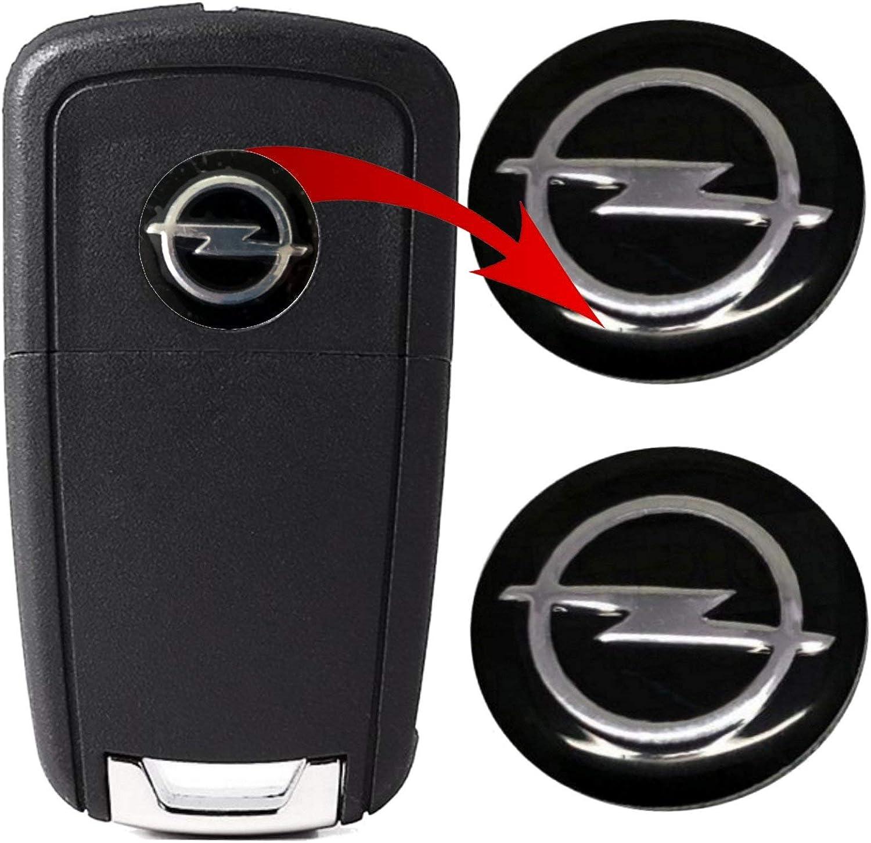 Logo Key Remote Control Emblem 14 Mm Compatible Logo Black Metal Pack Of 2 Bekleidung