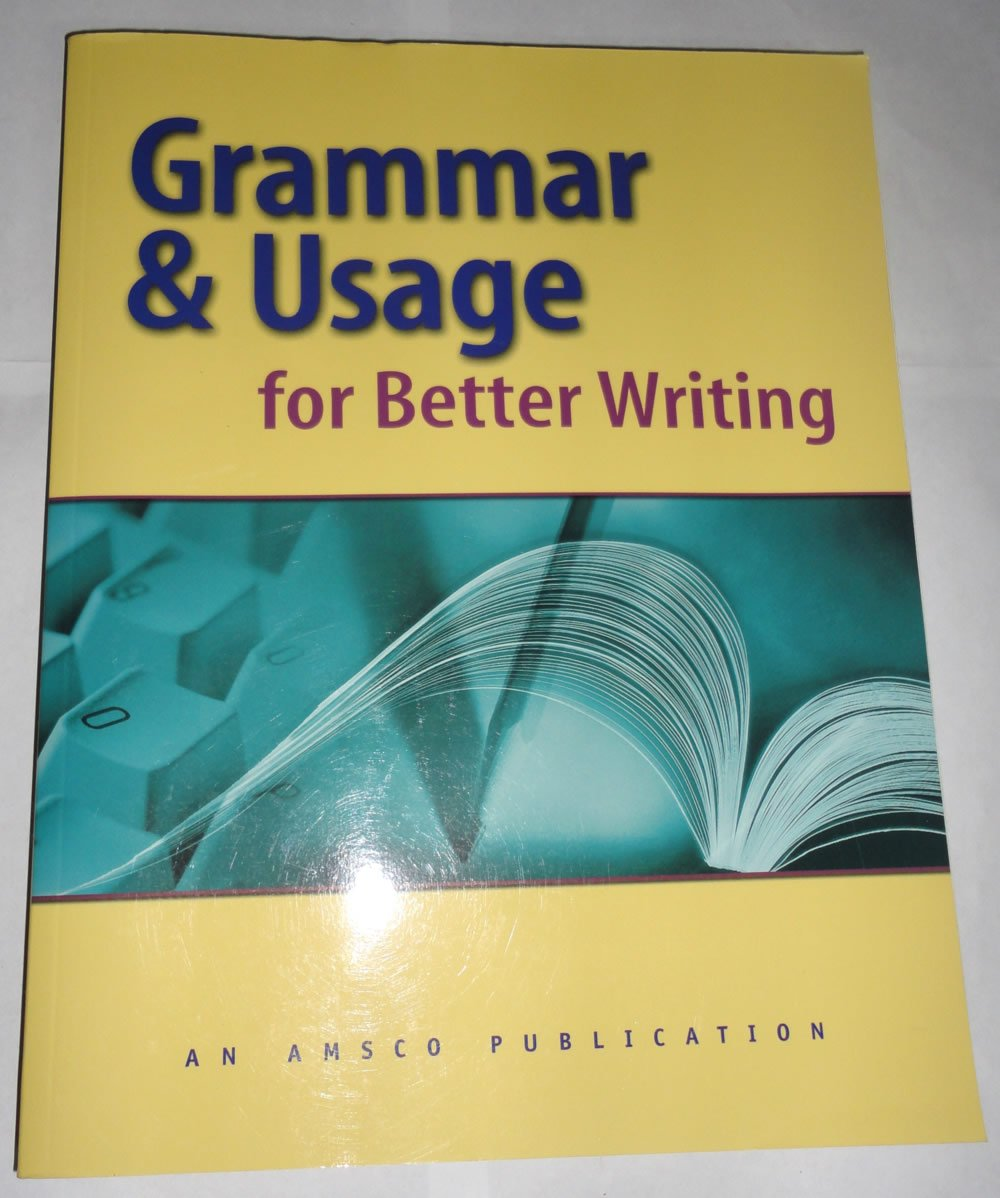 Grammar and usage for better writing