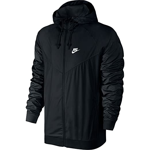 172ca09cb12fa2 Nike Windrunner Athletic Men s Jacket Black White 727324-010 (Size ...