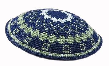 DMC tricoté à la Main, Yarmulke Kippa Chapeau 15 cm