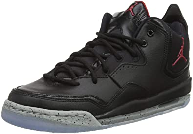 32b7c3636 Jordan Kids Courtside 23 GS Black Gym RED Particle Grey Size 4